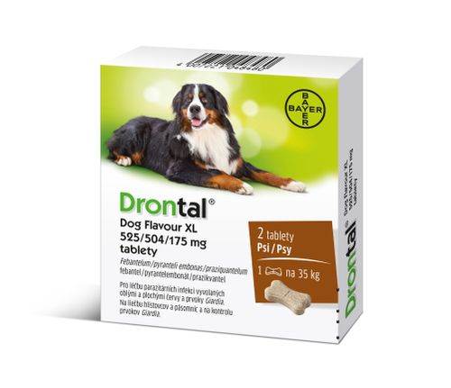 Drontal Dog Flavour XL 525/504/175 mg 2 tablety