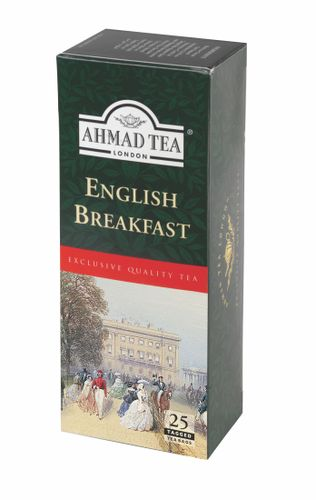 Ahmad Tea English Breakfast porcovaný čaj 25x2 g